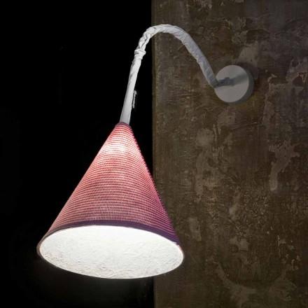 Designer wandlamp In-es.artdesign Jazz A Streepgekleurde wol