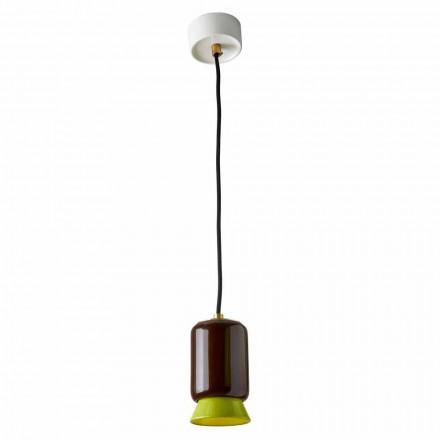 Hanglamp in gekleurd keramiek gemaakt in Italië Azië