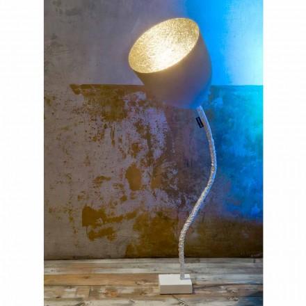 Design vloerlamp In-es.artdesign Flower Painted cement