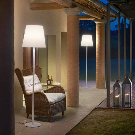 Staande lamp ontwerp Ali Baba Steel Glijbaan metaal gemaakt in Italië