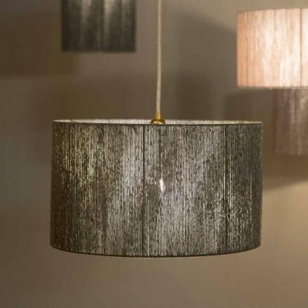 Hangende designlamp met d.45 in wol geproduceerd in Evita, Italië