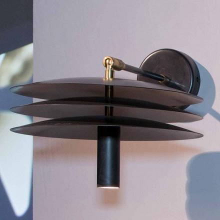 Handgemaakte lamp in ijzer met donkere verzuring met LED Made in Italy - Solano