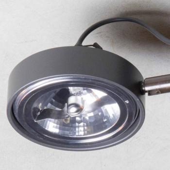Aluminium lamp met 2 verstelbare lampen, handgemaakt gemaakt in Italië - Gemina