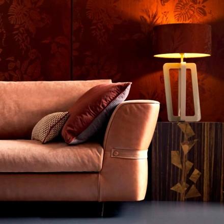 Tafellamp in massief gelakt hout Grilli Barnaby maakte Italië