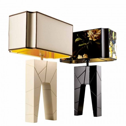 Grilli Zarafa maakte Italië massief houten nachtkastje / tafellamp