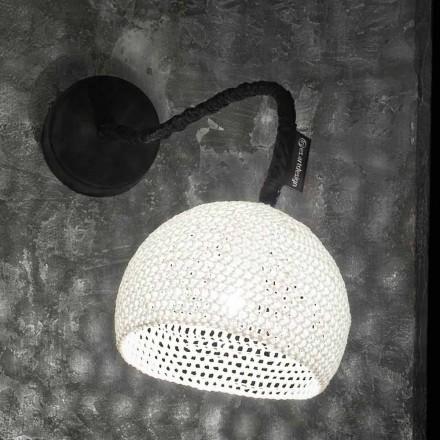Wandlamp van hars en katoen In-es.artdesign Moderne A1-textuur