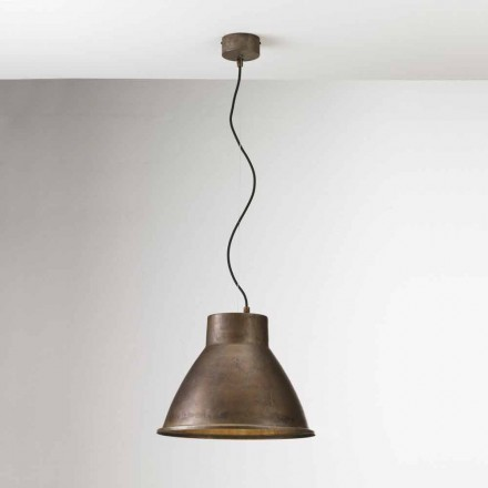 Industriële lamp in ijzer opschorting Loft Media Il Fanale