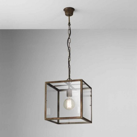Industriële lamp in ijzer opschorting Londen Il Fanale