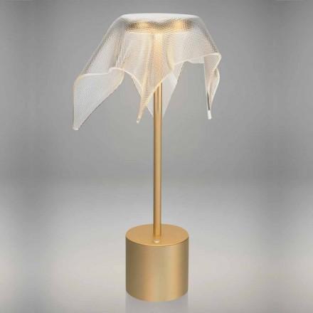 LED-lamp van gekleurd metaal en transparant prismatisch plexiglas - Tagalong