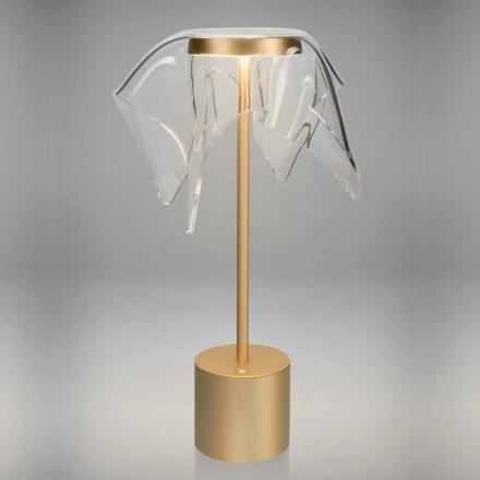 Touch LED-lamp in gekleurd metaal en transparant plexiglas - Tagalong