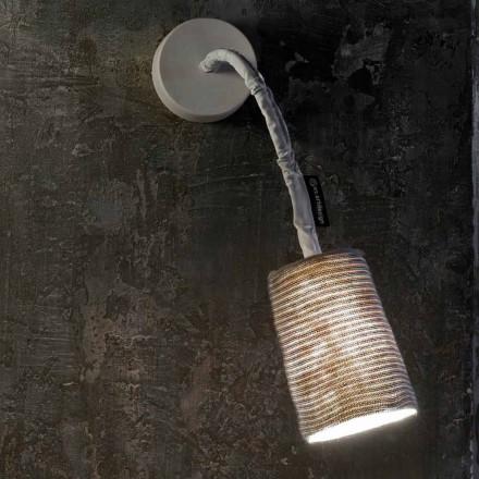 Moderne wandlamp In-es.artdesign Verf A Streep Nebulite en wol
