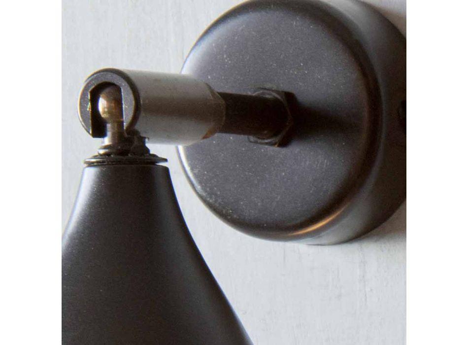 Moderne artisanale wandlamp in ijzer en aluminium, gemaakt in Italië - kegelvormig