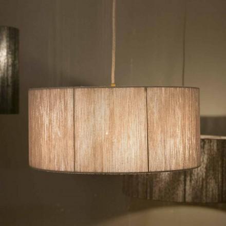 Moderne hanglamp in wol gemaakt in Evita