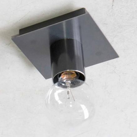Handgemaakte wandlamp in zwart ijzer of cortenstaal Made in Italy - Alabama