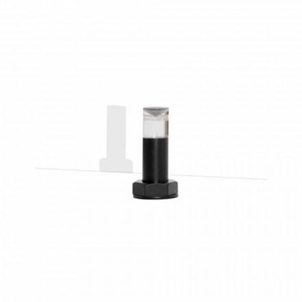 Moderne tafellamp in zwart metaal en plexiglas Made in Italy - Dalbo