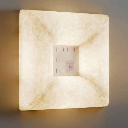 Witte nebulite wandlamp In-es.artdesign Dada Luna 1 ontwerp