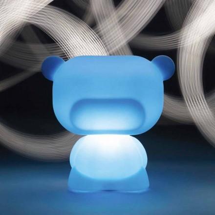 Lichtgevende tafellamp in de vorm van een Slide Pure beer, gemaakt in Italië