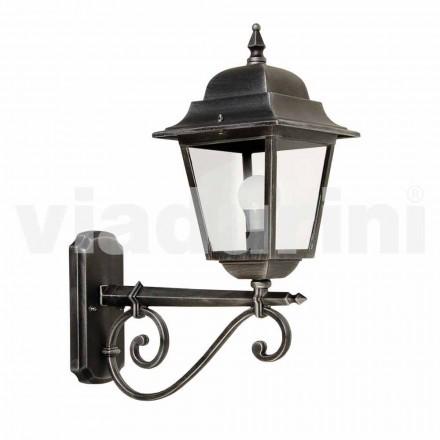 Wandlamp buiten gemaakt van aluminium, gemaakt in Italië, Aquilina