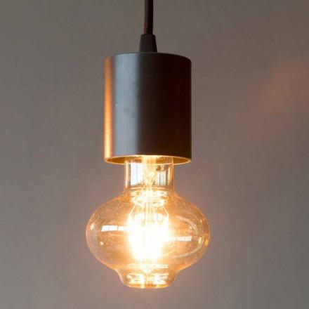 Handgemaakte ijzeren hanglamp met katoenen kabel Made in Italy - Frana