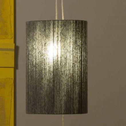 Hanglamp / vloerlamp gemaakt van messing en wol gemaakt in Evita