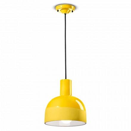 Moderne stijl hanglamp in keramiek gemaakt in Italië - Ferroluce Caxixi