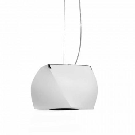 Hangende designlamp in metaal en witte hars gemaakt in Italië - Peking