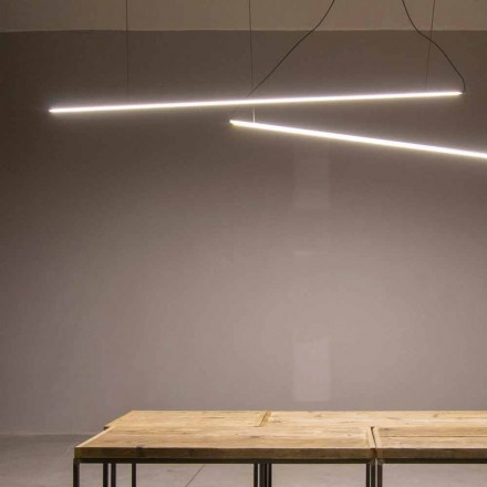 Hanglamp Handgemaakt van aluminium met LED-balk Made in Italy - Ledda