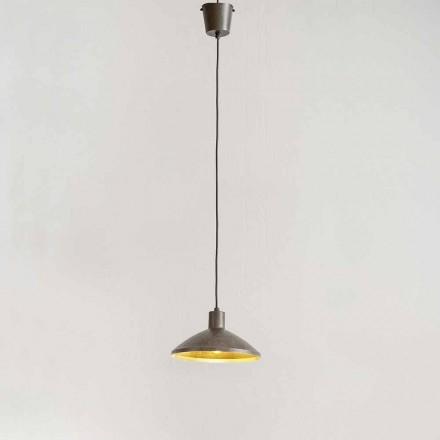 Hanglamp in antiek staal diameter 310 mm - Materia Aldo Bernardi