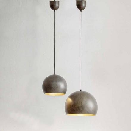 Hanglamp in staaldiameter 300 of 400 mm - Materia Aldo Bernardi