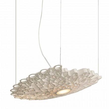 Hanglamp in wit technopolymeer ontwerp 2 afmetingen - kathedraal