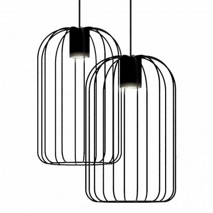 Moderne hanglamp met metalen draadstructuur gemaakt in Italië - kooi