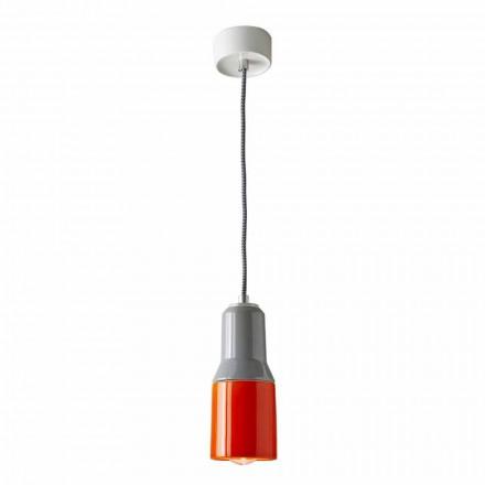 Moderne hanglamp van keramiek en aluminium gemaakt in Italië, Azië