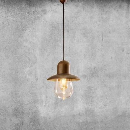 Vintage hanglamp met koperen reflector - Guinguette Aldo Bernardi