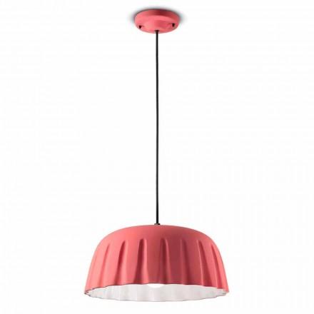 Vintage keramische hanglamp gemaakt in Italië - Ferroluce Madame Grès