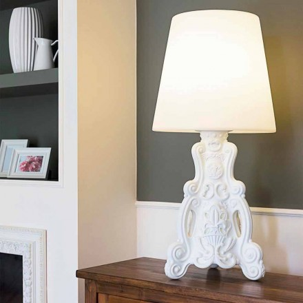 Gekleurde tafellamp Slide Lady of Love modern design gemaakt in Italië