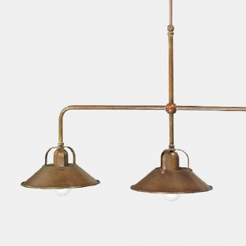 3-lichts kroonluchter in messing vintage design gemaakt in Italië - Cascina door Il Fanale