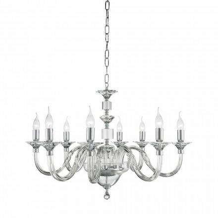 Kroonluchter 8 desgin lichten glas met cristallo Ivy decoraties