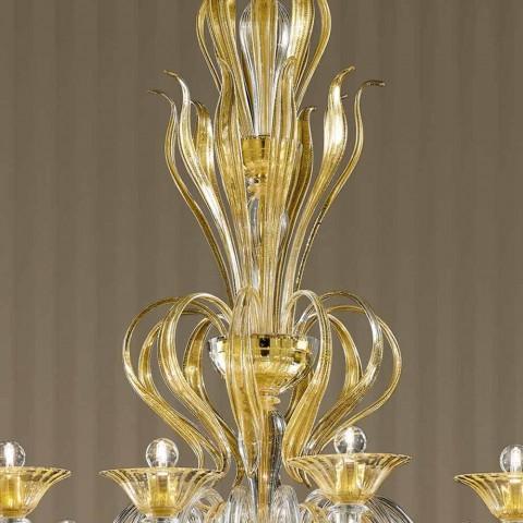 16 lichts handgemaakte Venetiaanse glazen kroonluchter, gemaakt in Italië - Agustina