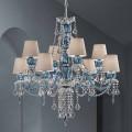 8-lichts kroonluchter in Venetiaans glas, handgemaakt, gemaakt in Italië - Milagros