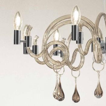 9 Lichte handgemaakte Venetiaanse glazen kroonluchter gemaakt in Italië - Bernadette