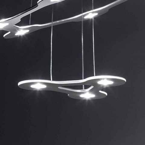 9 lichts kroonluchter in fijn gelakt aluminium Made in Italy - Flash