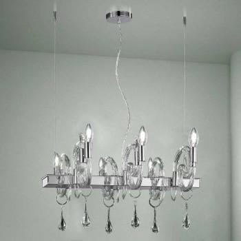 Artisan 6-lichts kroonluchter in Venetië glas gemaakt in Italië - Bernadette