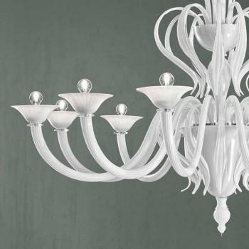 12 lichts Venetië glazen kroonluchter handgemaakt in Italië - Agustina