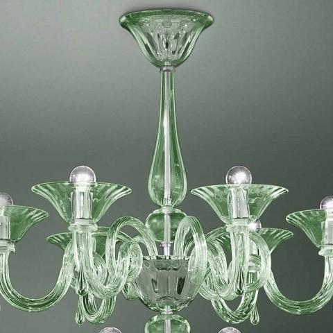 18-lichts Venetiaanse glazen kroonluchter handgemaakt in Italië - Margherita