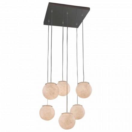 Modern design kroonluchter In-es.artdesign Sei Lune in nebulite