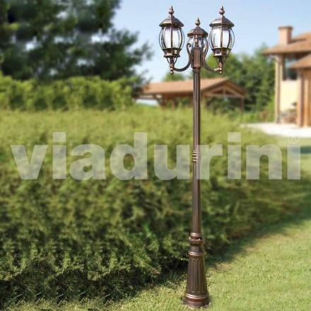 Lantaarnpaal voor buitenverlichting, gemaakt van aluminium, gemaakt in Italië, Anika