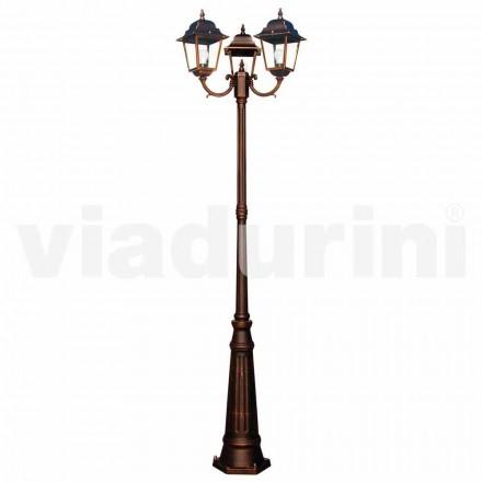 Klassieke buitenlamp met drie lampen, geproduceerd in Italië, Aquilina