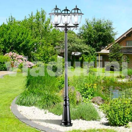 Klassieke tuin drie-licht lantaarnpaal gemaakt met aluminium, Kristel