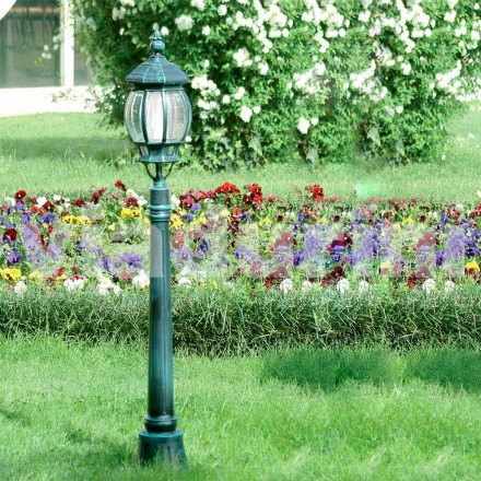 Tuinlantaarnpaal gemaakt van gegoten aluminium, gemaakt in Italië, Anika
