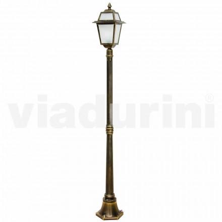 Klassieke outdoor lantaarnpaal gemaakt met aluminium, gemaakt in Italië, Kristel